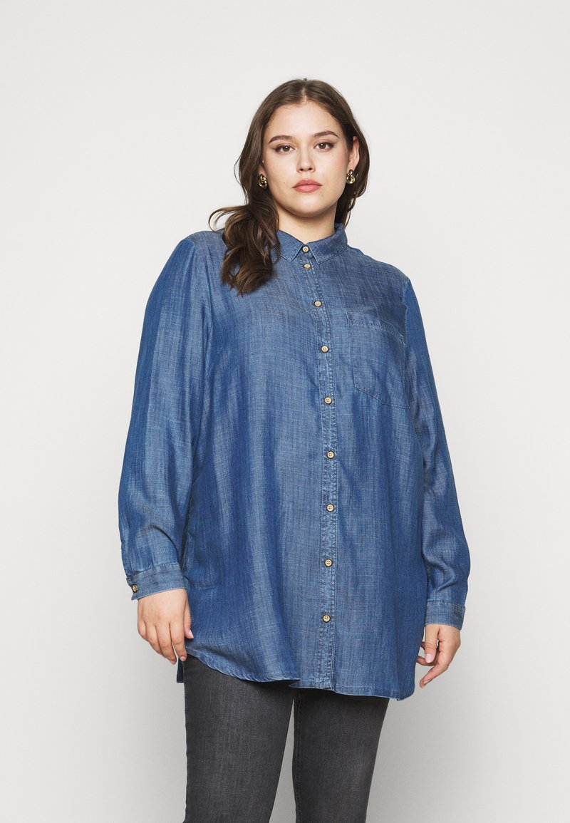 CAPSULE by Simply Be - Button-down blouse - dark blue