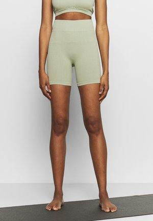 SEAMLESS CYCLE SHORT - Tights - dessert sage