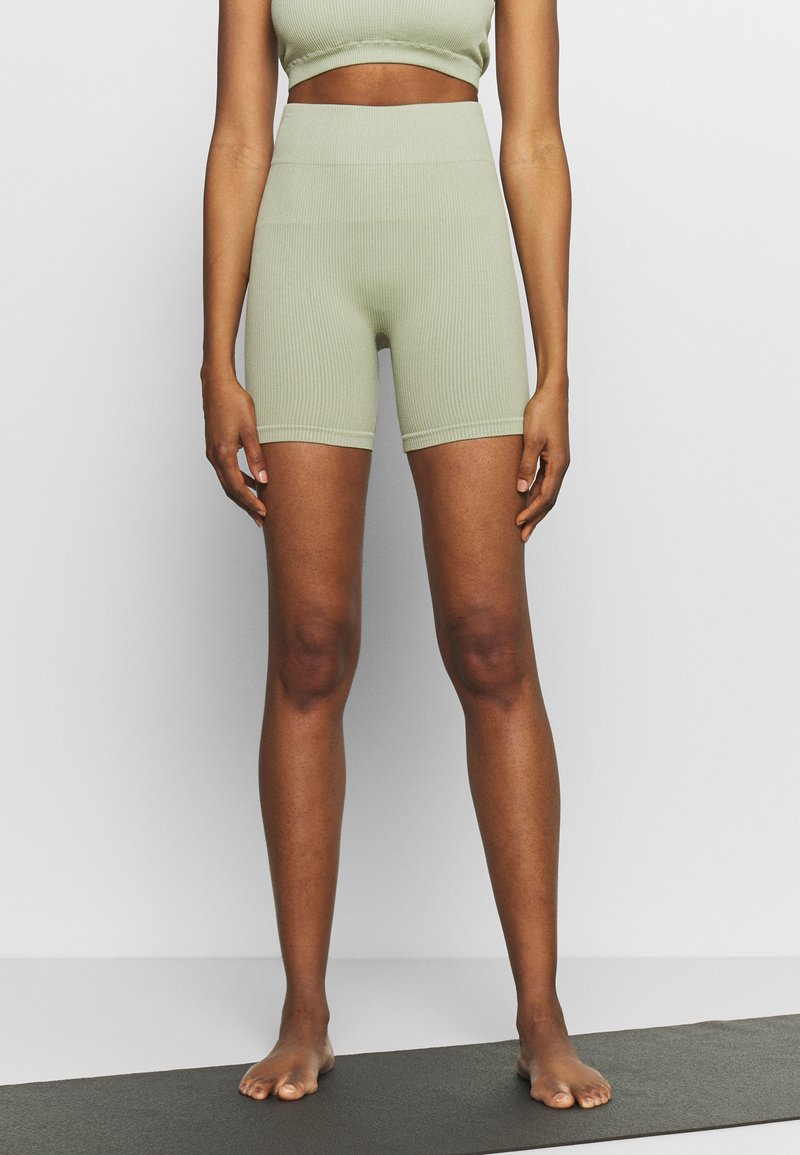South Beach - SEAMLESS CYCLE SHORT - Medias - dessert sage
