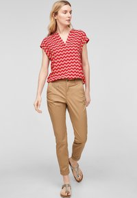 s.Oliver - Blouse - red zic zac stripes - 1