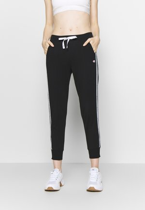 RIB CUFF PANTS - Tracksuit bottoms - black