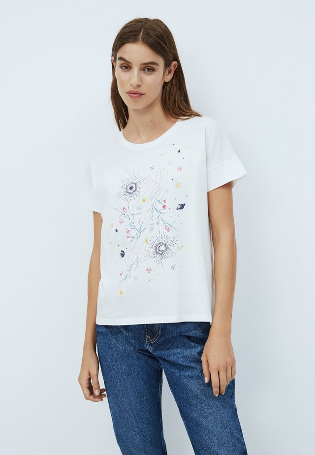 ALANIS - T-shirt con stampa - white