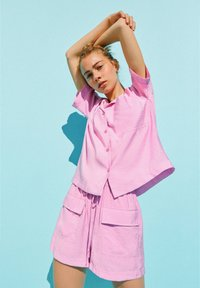 PULL&BEAR - Button-down blouse - pink - 5