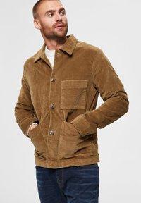 Selected Homme - Summer jacket - camel - 3