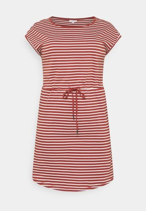 CARAPRIL KNEE DRESS STRIPE - Vestido ligero - apple butter/cloud dancer
