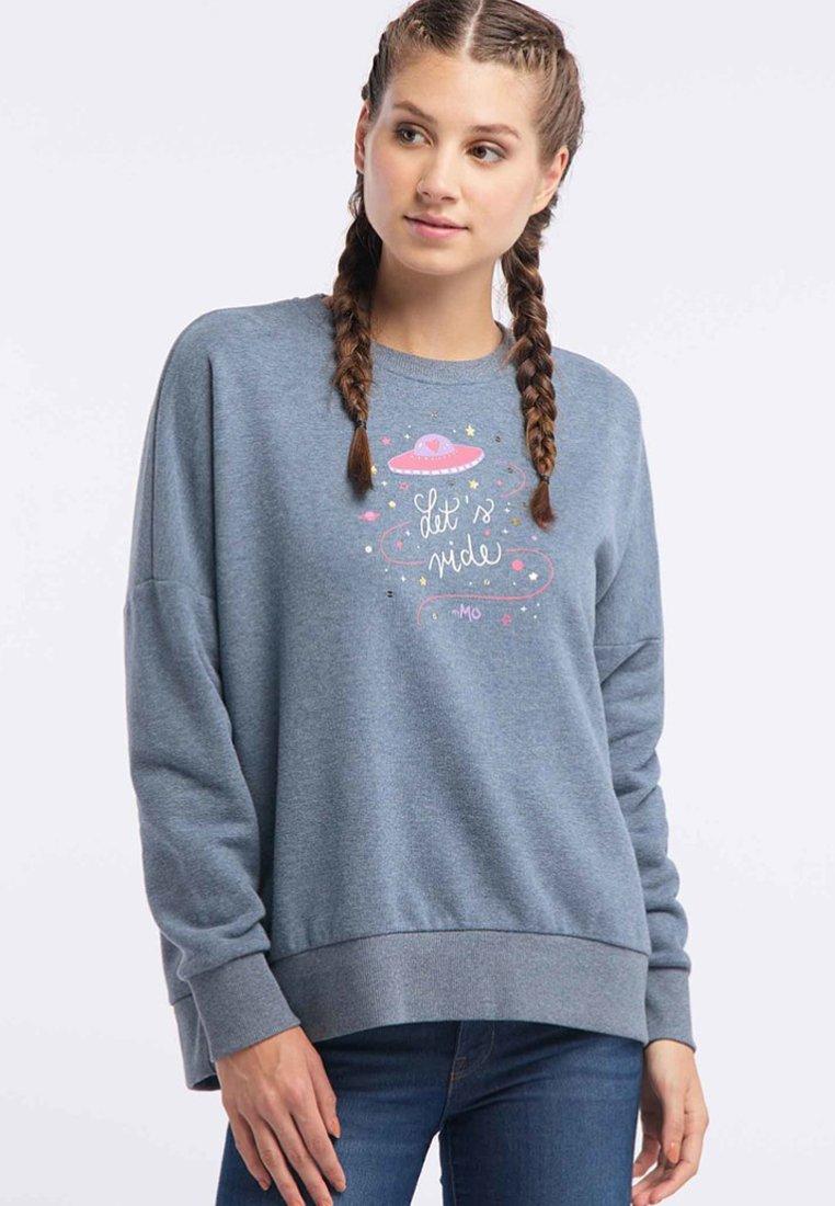 Fast Express Women's Clothing myMo Sweatshirt marine melange EtvjpvbZK