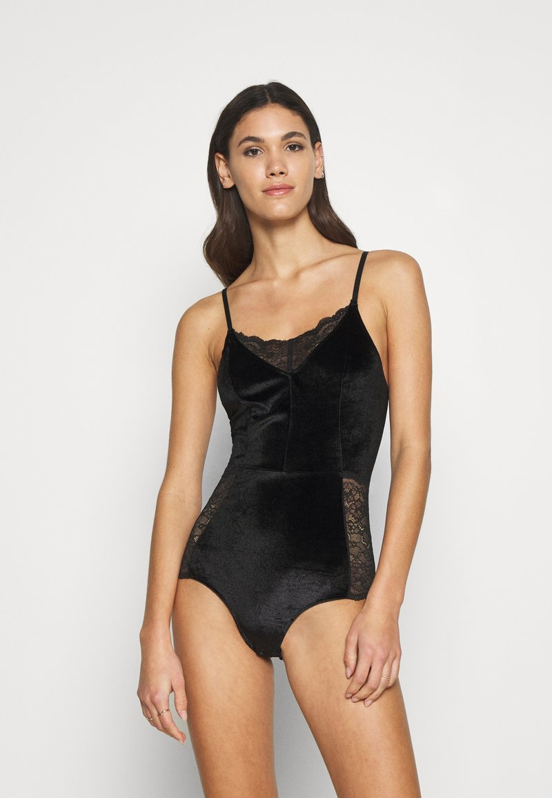 Monki - CELINA - Body - black dark