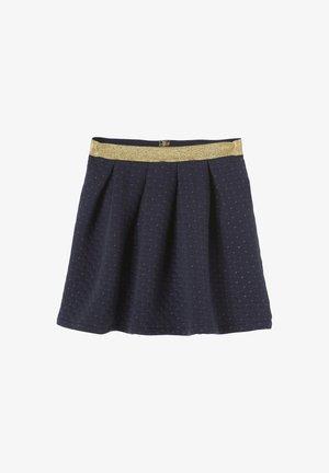 QUILTÉ FILS IRISÉS - Mini skirt - nachtblau