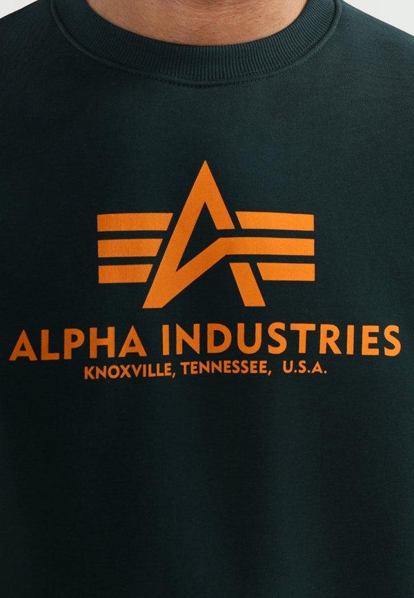 Alpha Industries BASIC - Bluza - dark petrol/turkusowy Odzież Męska PVQO