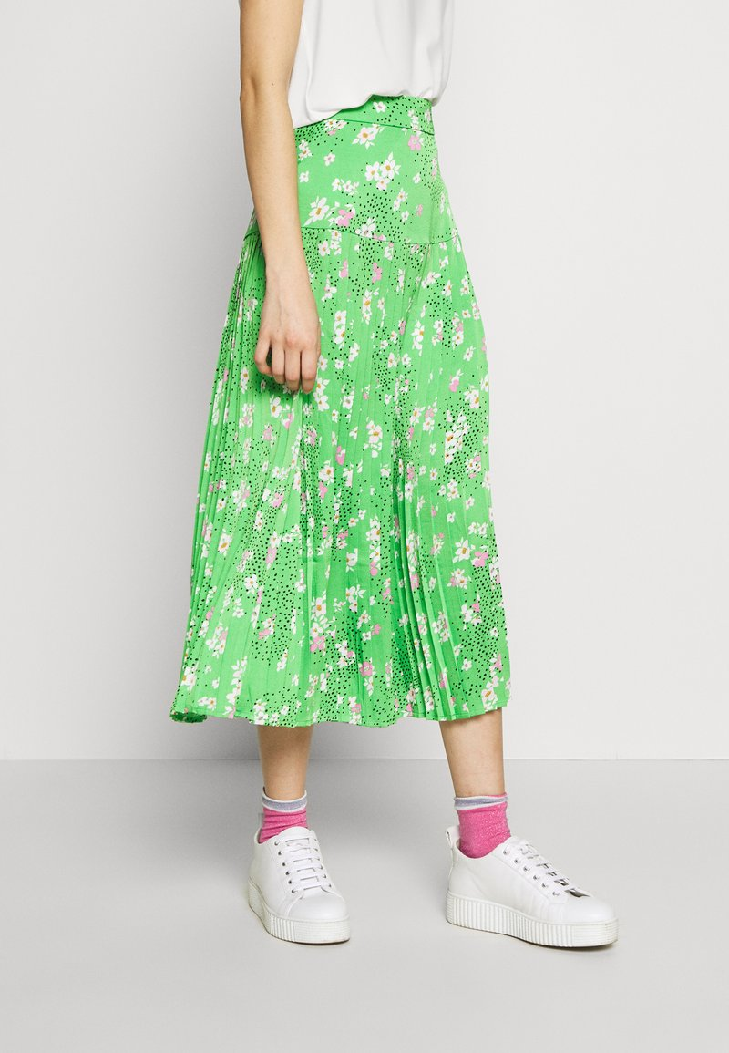 Never Fully Dressed - BLOSSOM BEATRICE SKIRT - Minisukně - green