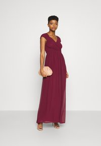 Nly by Nelly - CAP SLEEVE MAXI GOWN - Occasion wear - burgundy - 1