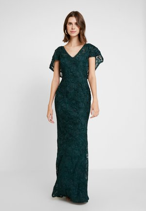 SOUTACHE CAPE GOWN - Abito da sera - dusty emerald