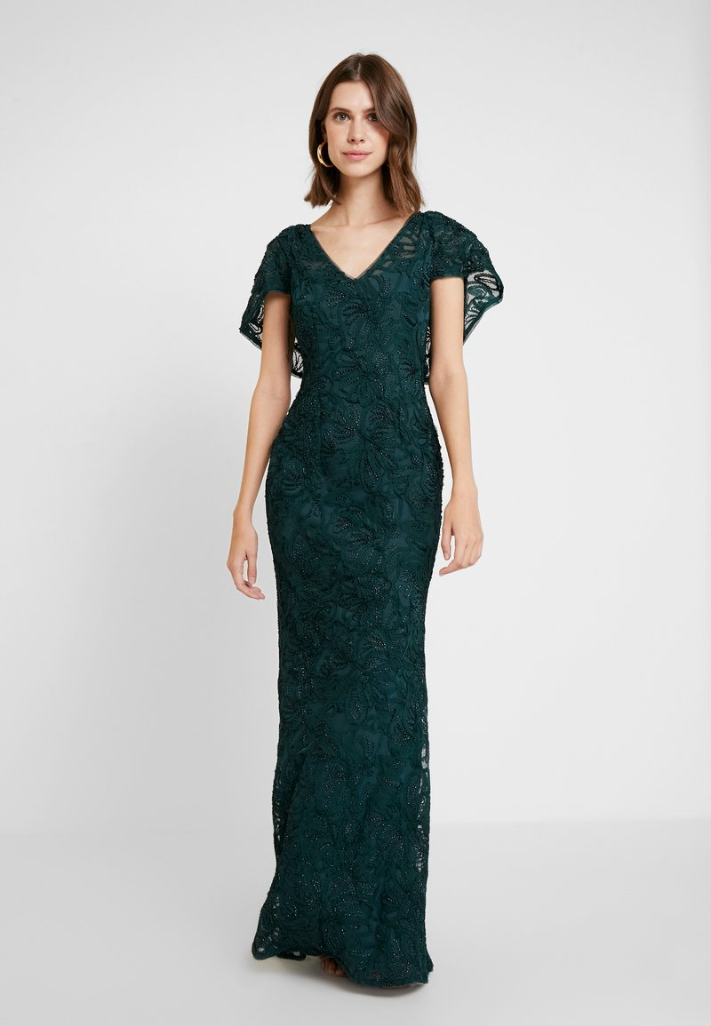 Adrianna Papell - SOUTACHE CAPE GOWN - Occasion wear - dusty emerald