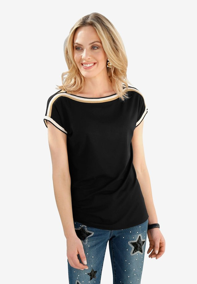Amy Vermont Shirt Bluse Damen Gr 962 44 bis 48 schwarz NEU