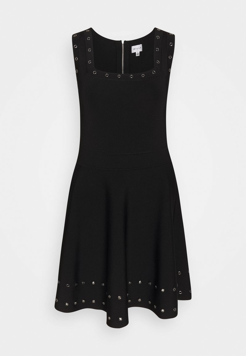 Milly - GROMMET TIERED DRESS - Day dress - black