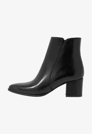 LEATHER BOOTIES - Stivaletti - black