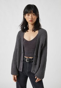 PULL&BEAR - Cardigan - mottled grey - 0