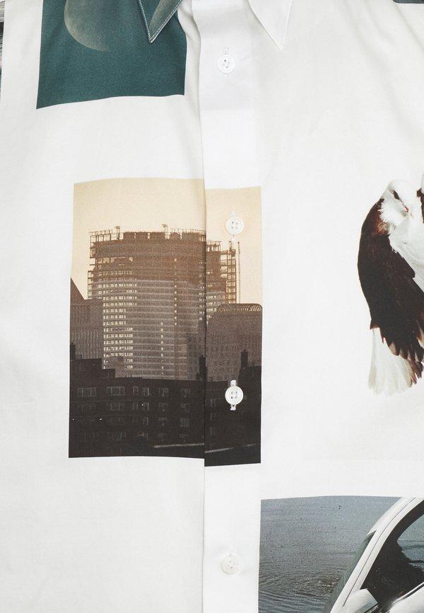 Études LYRIQUE ROE ETHRIDGE UNISEX - Koszula - white/multi-coloured/biały ZIOW