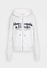 FULL ZIP - Zip-up hoodie - grey heather