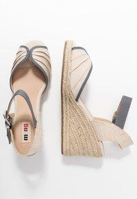 mtng - NEW PALMER - Sandály na vysokém podpatku - natural - 3