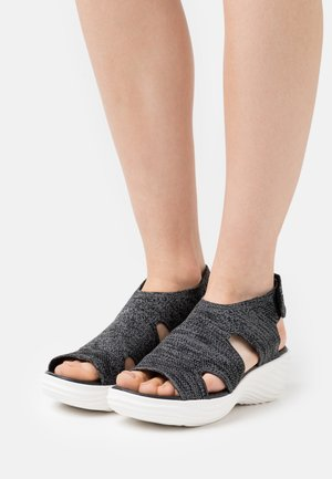 MARIN SAIL - Platform sandals - black