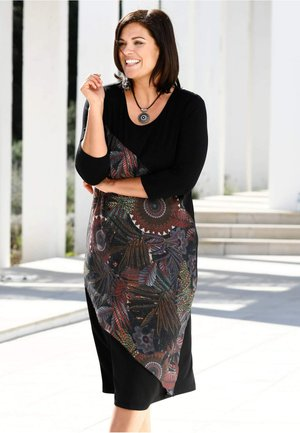 Jersey dress - multi-coloured, black
