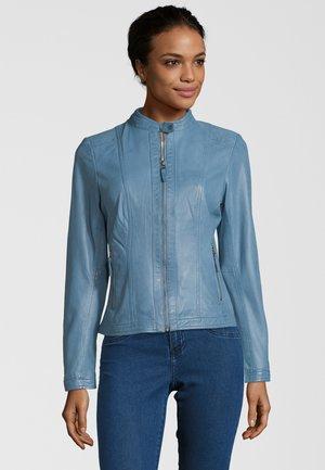 RESI - Leather jacket - bleu