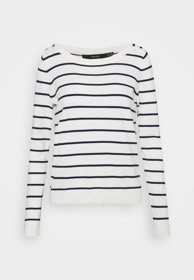 VMALMA BOATNECK - Pullover - snow white/navy blazer/gold