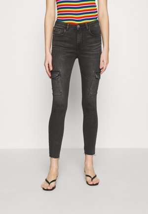 JDYNIKKI LIFE HIGH - Jeans Skinny Fit - dark grey denim