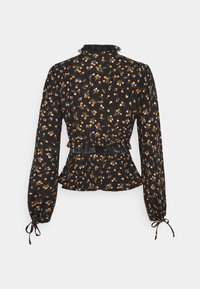 Missguided - TIE DETAIL NECK AND CUFF PRINTED  - Blouse - black - 1