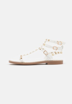 CORALIE - Ankle cuff sandals - blanc