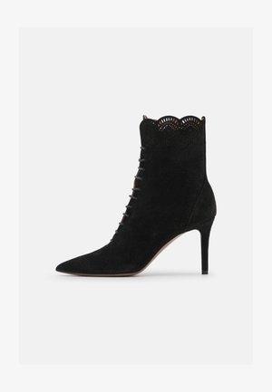 LOW BOOT - Šněrovací kotníkové boty - black