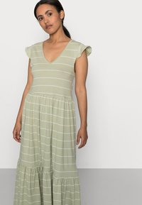 ONLY Petite - ONLMAY LIFE DRESS - Maxi dress - desert sage/cloud dancer - 4