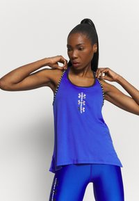 Under Armour - KNOCKOUT TANK - Sports shirt - emotion blue - 3
