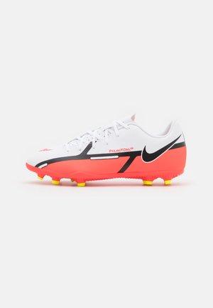 JR. PHANTOM GT2 CLUB FG/MG UNISEX - Chaussures de foot à crampons - white/bright crimson/volt