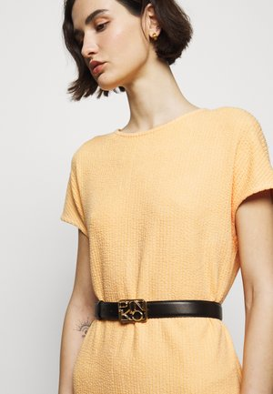 ANTHEA SIMPLY BELT SETA BRUSHED GOLD - Belte - black