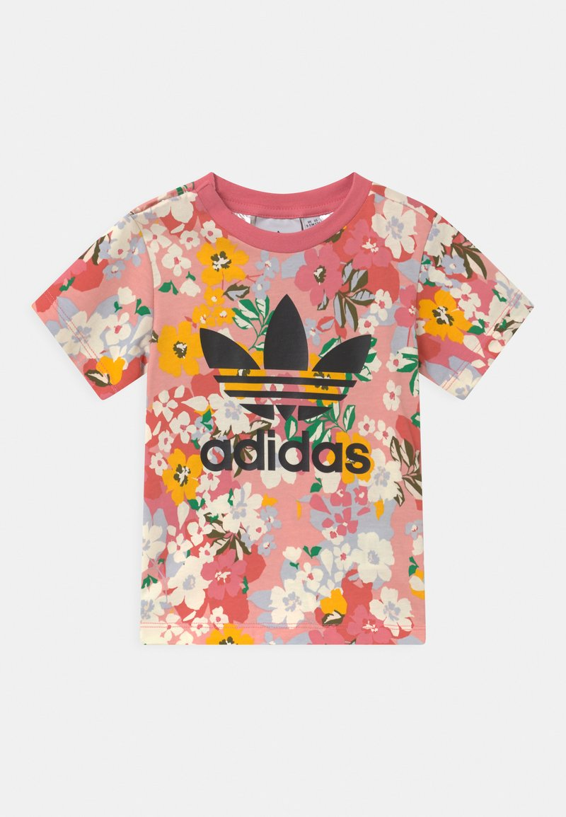 adidas Originals - T-shirt print - trace pink/multicolor/black