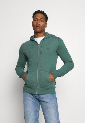 BASIC - veste en sweat zippée - eukalyptus green