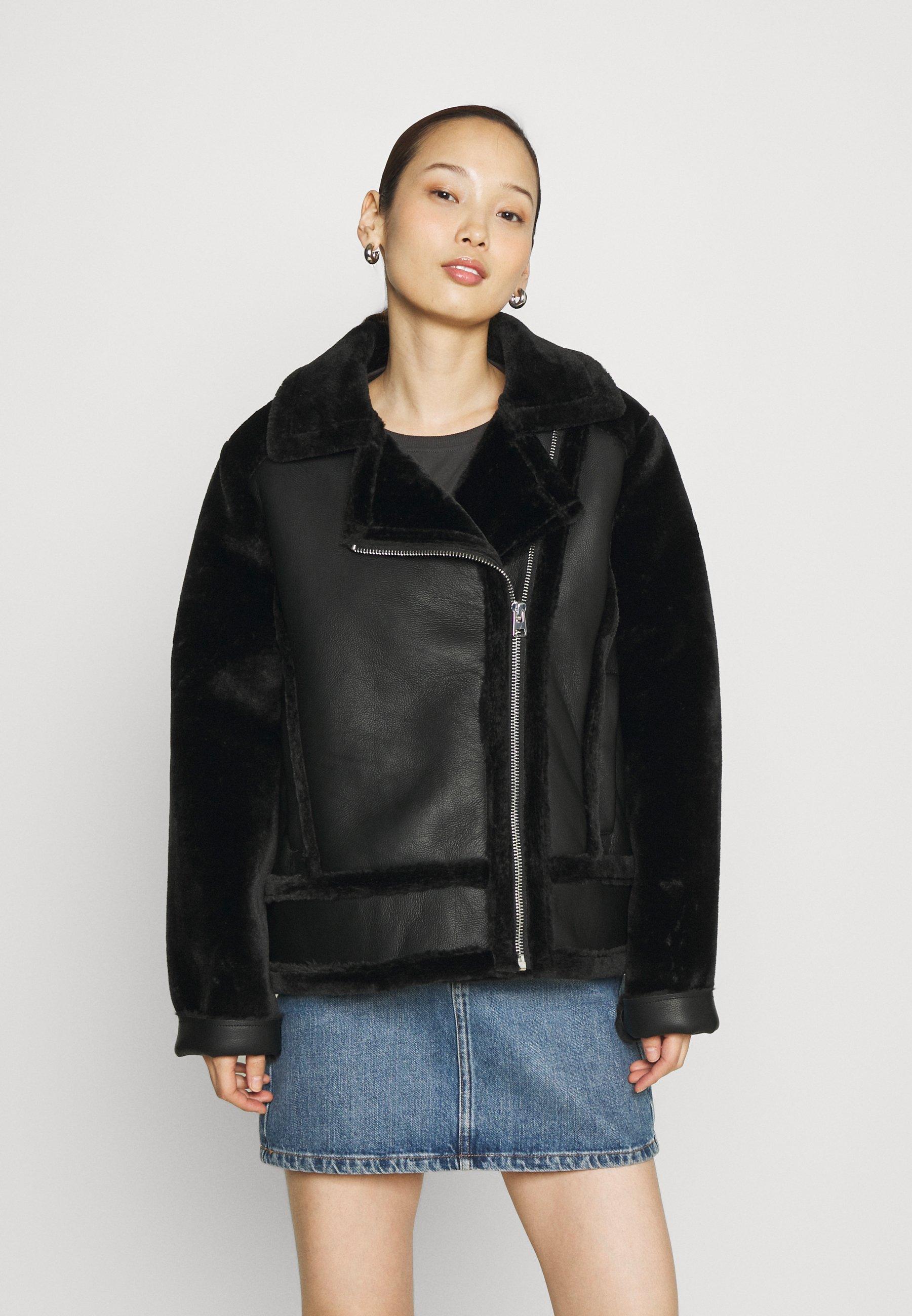Women MIX BIKER - Faux leather jacket