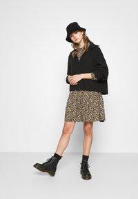 JDY - JDYPIPER DRESS - Skjortekjole - black/yellow - 1