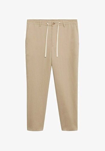 RELAXED FIT - Trousers - beige
