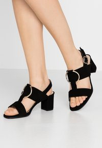 Brenda Zaro Wide Fit - WIDE FIT POLAR NEW - Sandals - black - 0