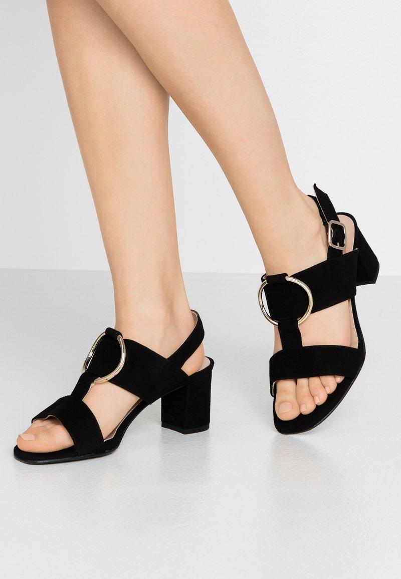Brenda Zaro Wide Fit - WIDE FIT POLAR NEW - Sandals - black