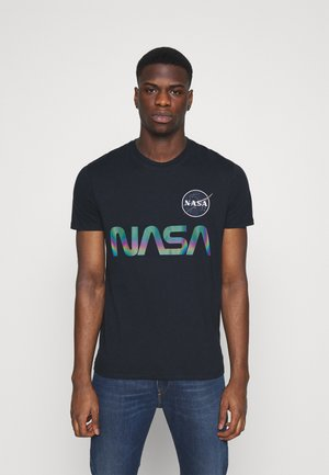 NASA RAINBOW  - Print T-shirt - dark blue