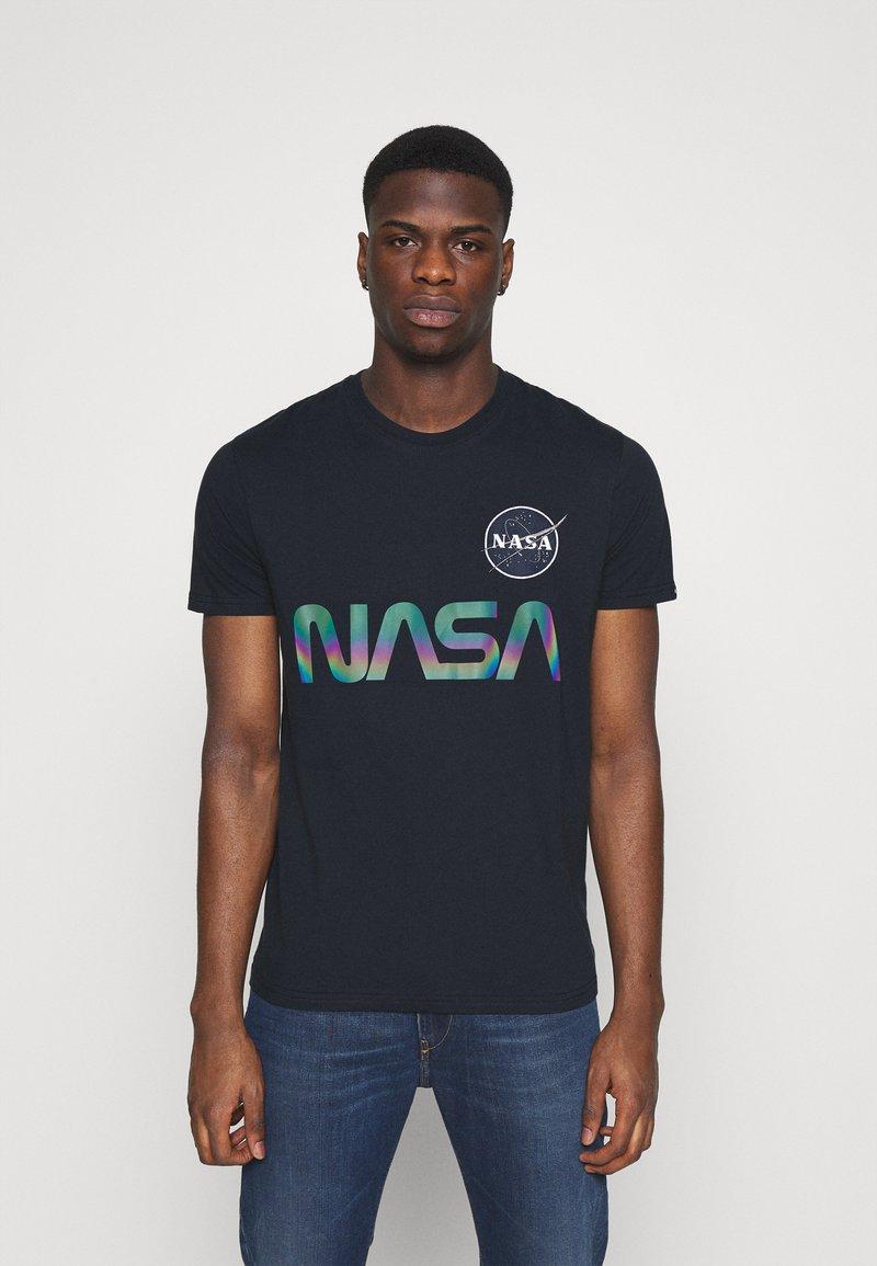Alpha Industries - NASA RAINBOW  - Print T-shirt - dark blue