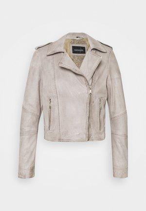 ALIZEE - Leather jacket - light grey