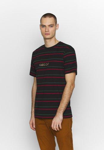 GOOD DAY STRIPE TEE - Print T-shirt - black
