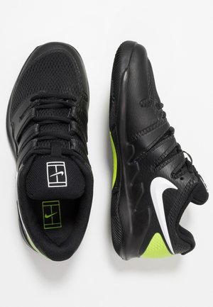 JR VAPOR X UNISEX - All court tennisskor - black/white/volt