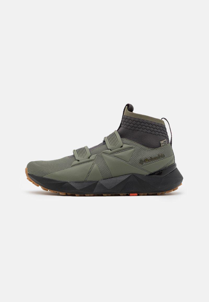 Columbia - FACET45 OUTDRY - Hiking shoes - stone green/autumn orange