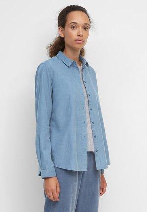 SAMTIGER CORD-QUALITÄT - Button-down blouse - fall sky